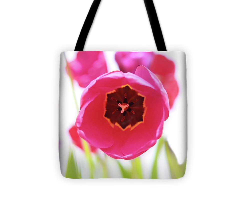 Hot Pink Tote Bag featuring the photograph Bright Beginnings by Emily Johnson