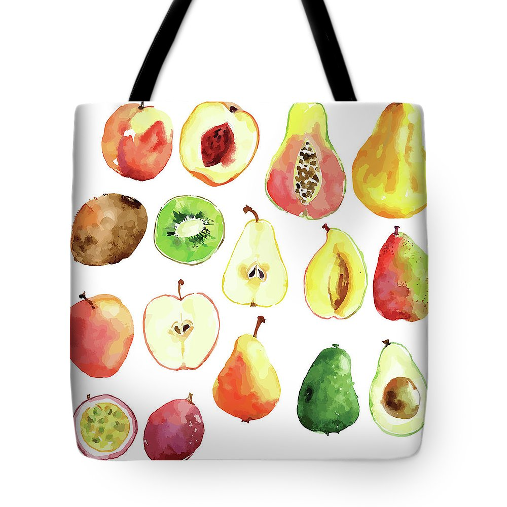 Art Tote Bag featuring the digital art Bright Vector Watercolor Hand Drawn by Dinkoobraz