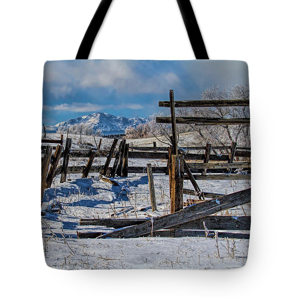 Corral Tote Bag featuring the photograph Broken Corral by Alana Thrower