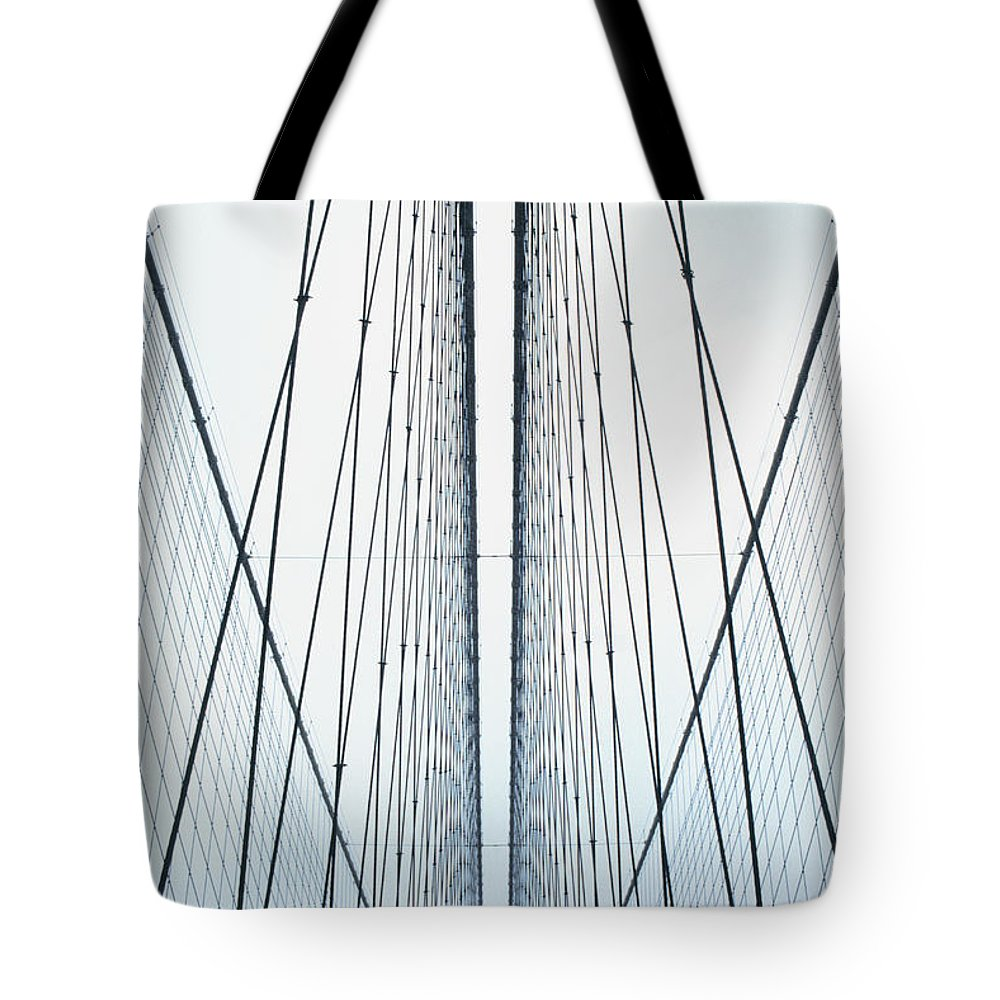 Suspension Bridge Tote Bag featuring the photograph Brooklyn Bridge by Eric O'connell