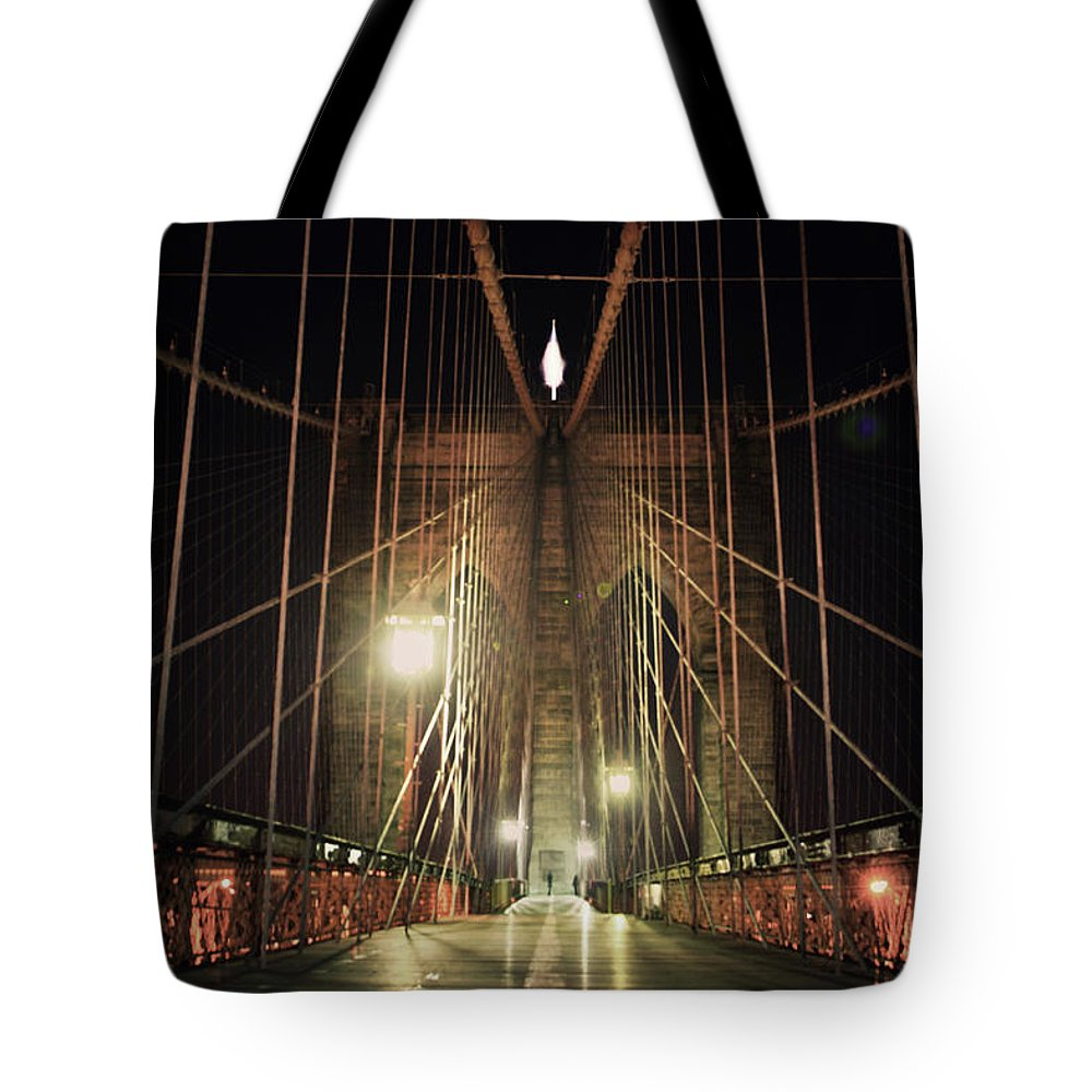 Tranquility Tote Bag featuring the photograph Brooklyn Bridge by Good Art Looks Pretty, Great Art Invokes Thought