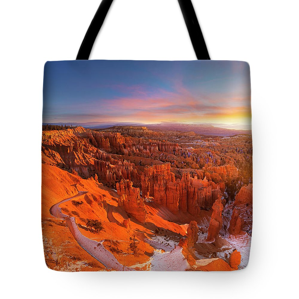 Scenics Tote Bag featuring the photograph Bryce Canyon National Park At Sunset by Ankit Saxena