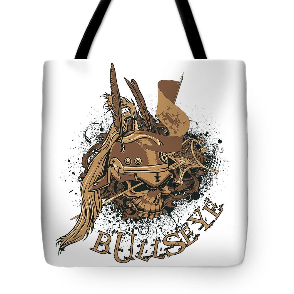 Halloween Tote Bag featuring the digital art Bullseye by Passion Loft