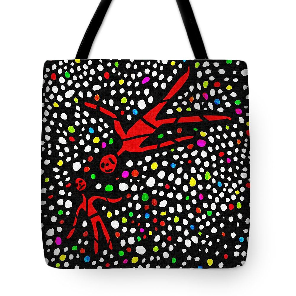 People Tote Bag featuring the drawing Buried by Sarah Loft
