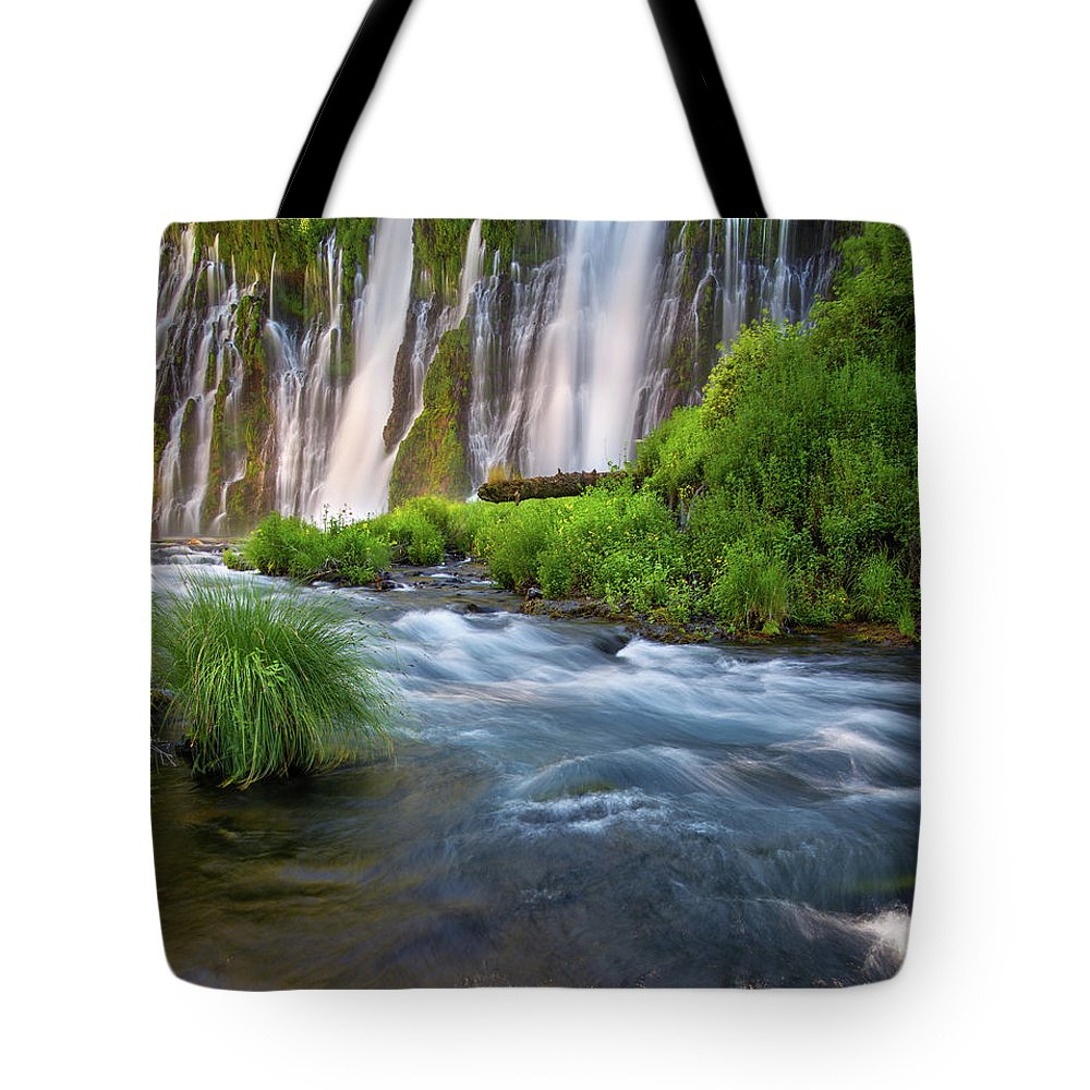 Nature Tote Bag featuring the photograph Burney Falls by Leland D Howard