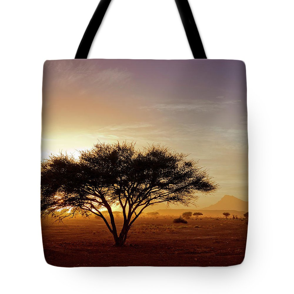 Tranquility Tote Bag featuring the photograph Burning Desert by Bernd Schunack