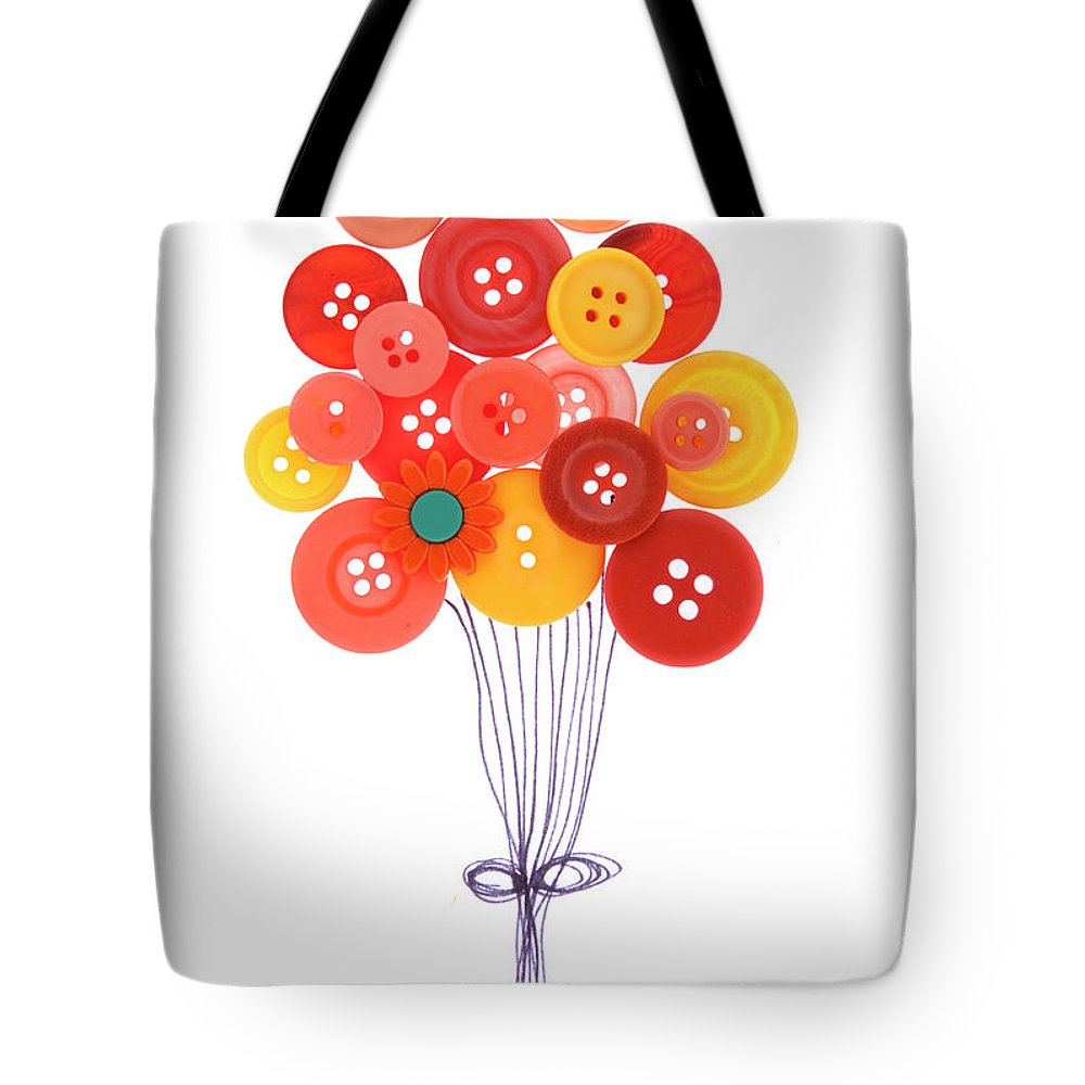 Brampton Tote Bag featuring the photograph Buttons As Balloons by Lisa Stokes