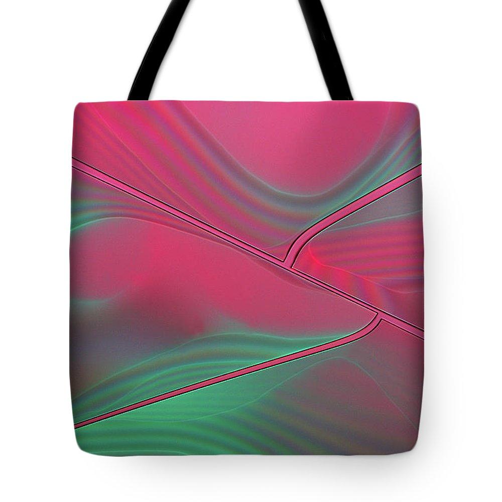 Tote Bag featuring the digital art Raspberry Ripple by Nanovizz