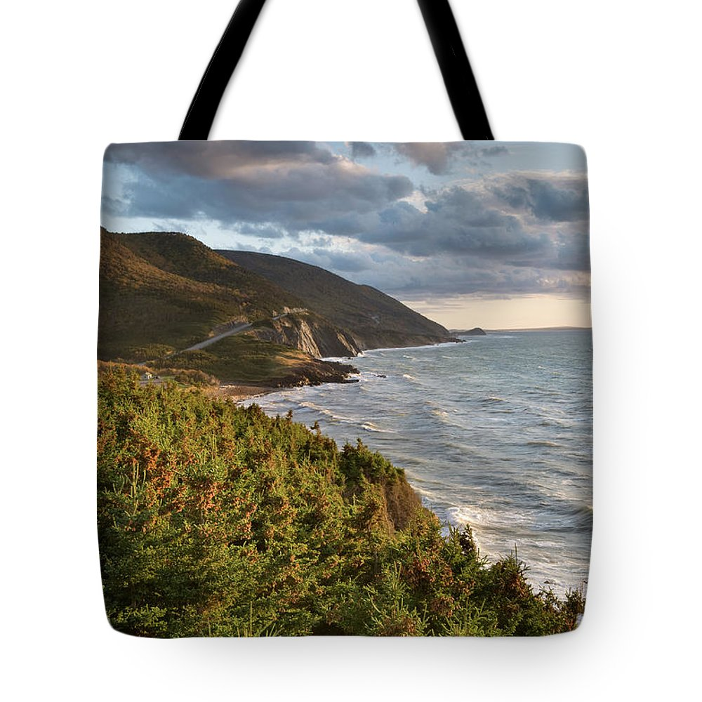 Scenics Tote Bag featuring the photograph Cabot Trail Scenic by Shayes17