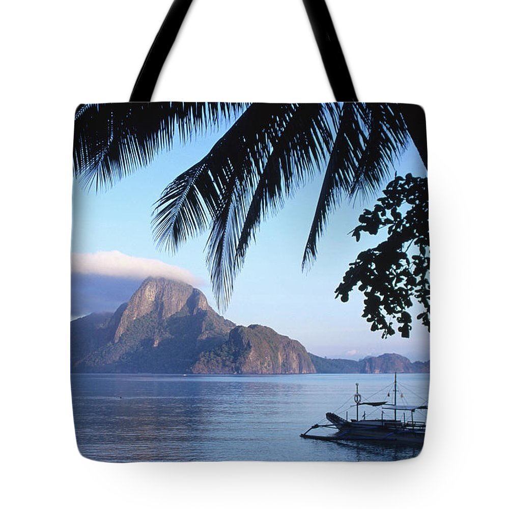 People Tote Bag featuring the photograph Cadlao Island From El Nido, Sunrise by Dallas Stribley