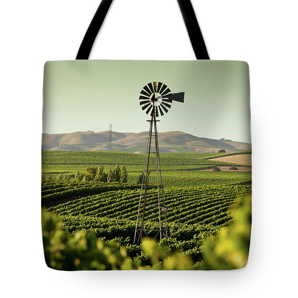 Sonoma County Tote Bag featuring the photograph California Wine Country by Halbergman