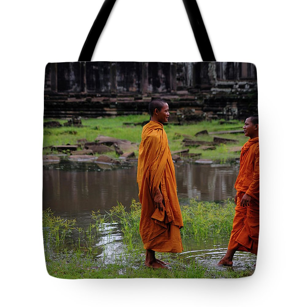 Southeast Asia Tote Bag featuring the photograph Cambodia by Rawpixel