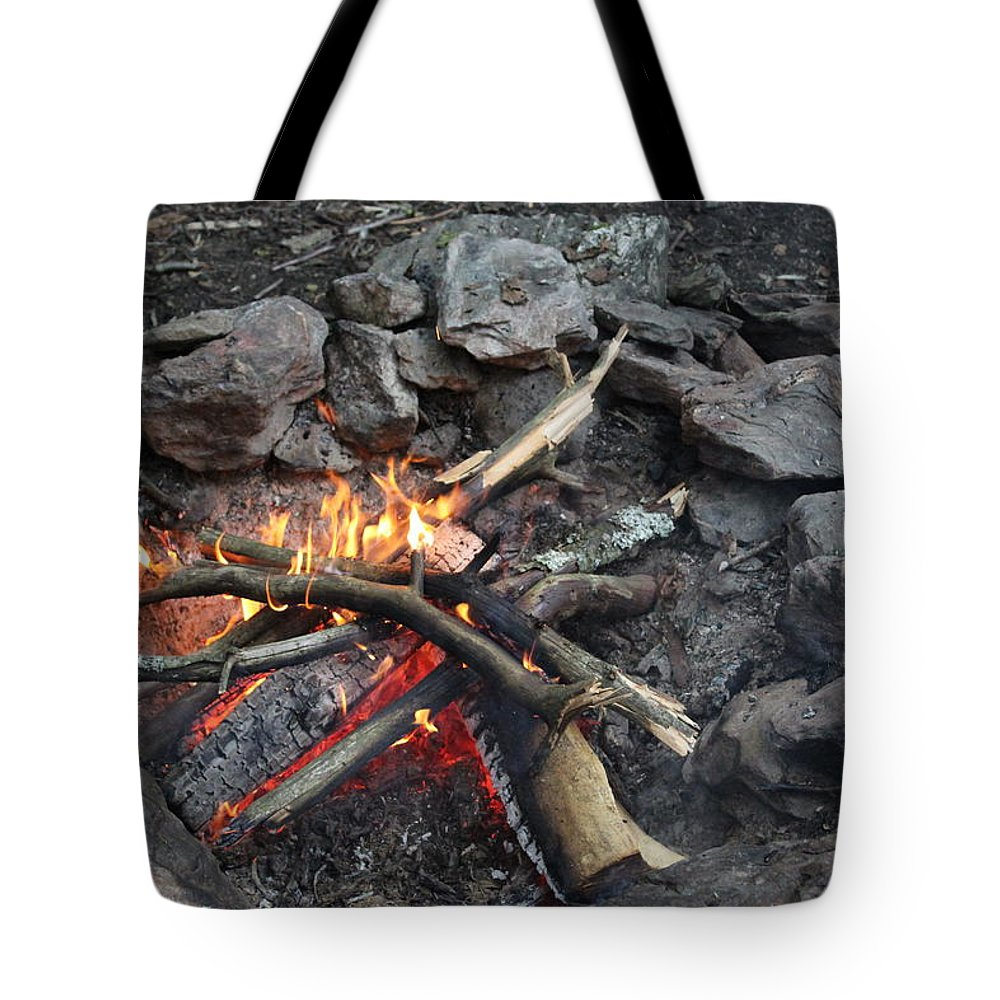 Fire Tote Bag featuring the photograph Camp Fire by Brittany Galipeau