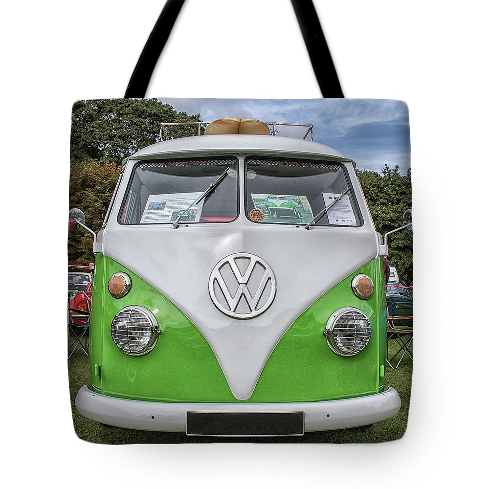 Campervan Tote Bag featuring the photograph Camper Fun by Martin Newman