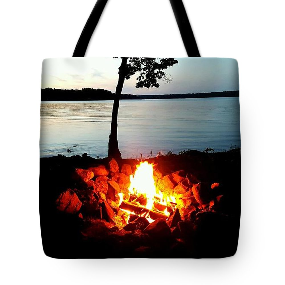 Tote Bag featuring the photograph Campfire by Zach Meyer