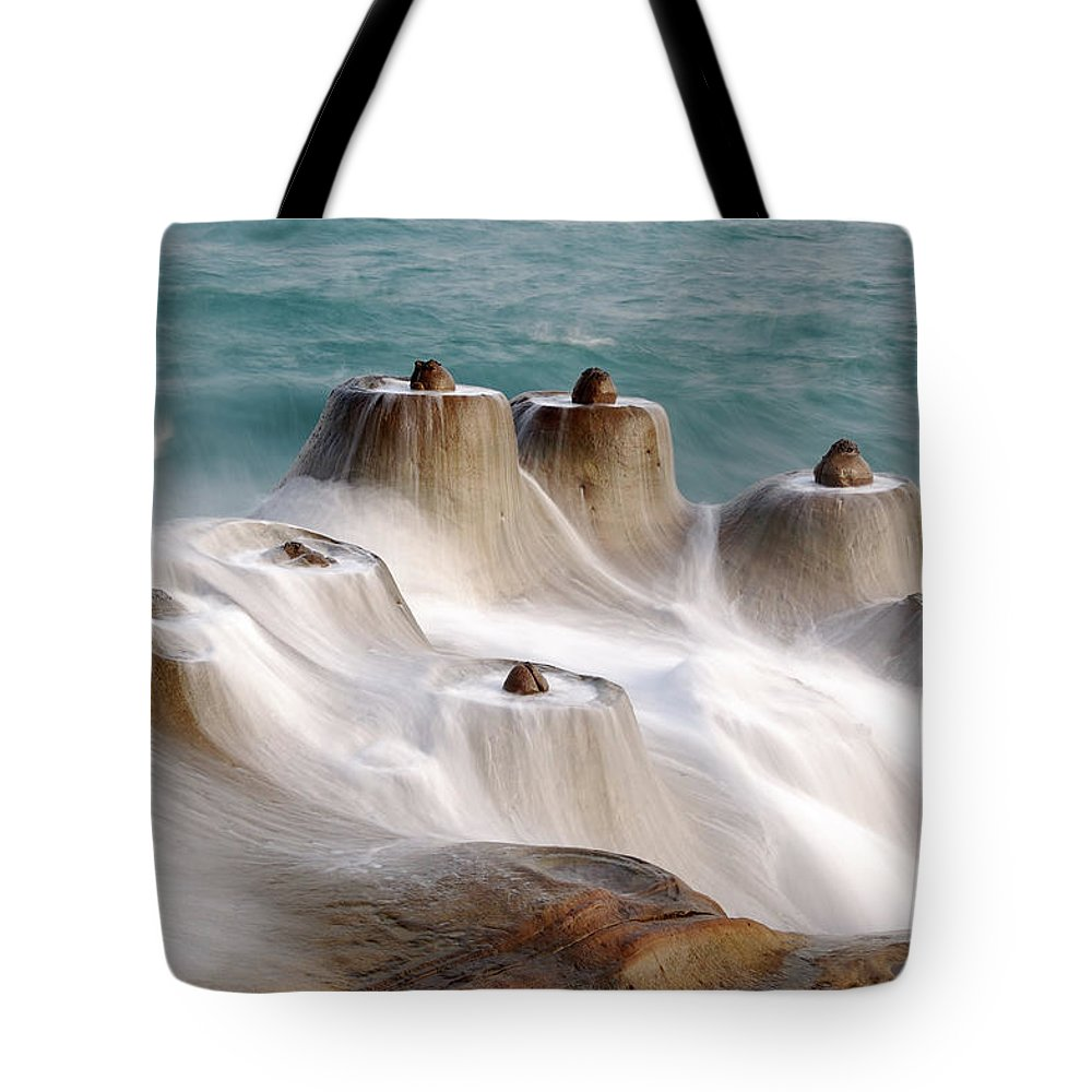 Taiwan Tote Bag featuring the photograph Candle Shaped Rock by Maxchu