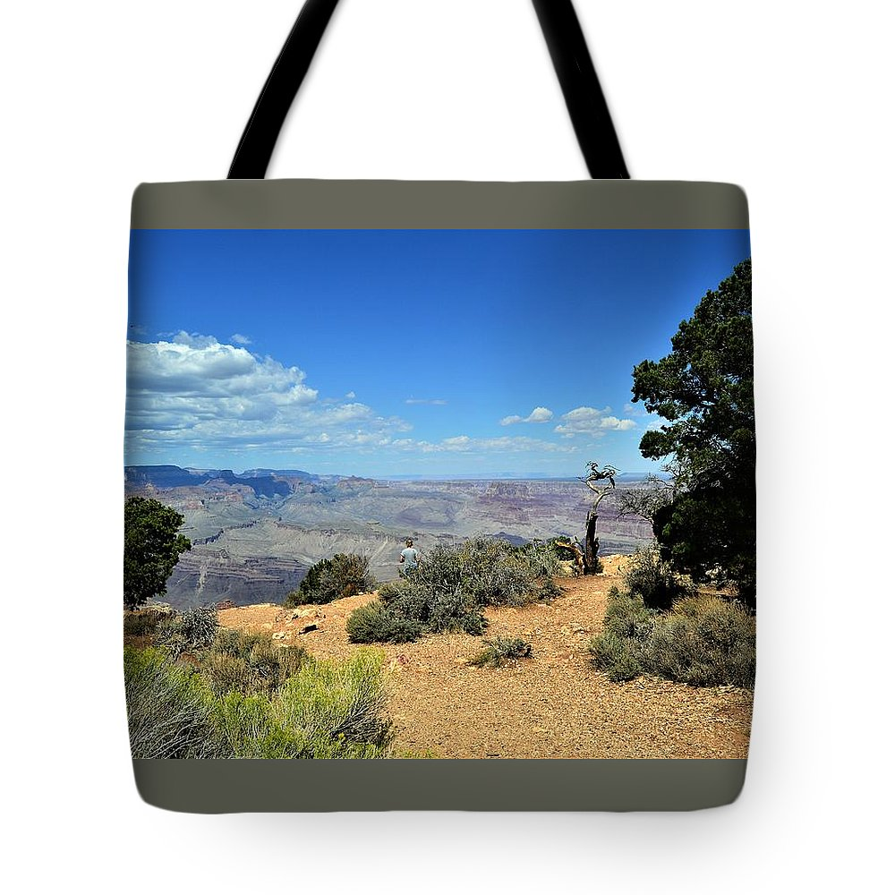 Canyon Color Tote Bag featuring the photograph Canyon Color by Warren Thompson