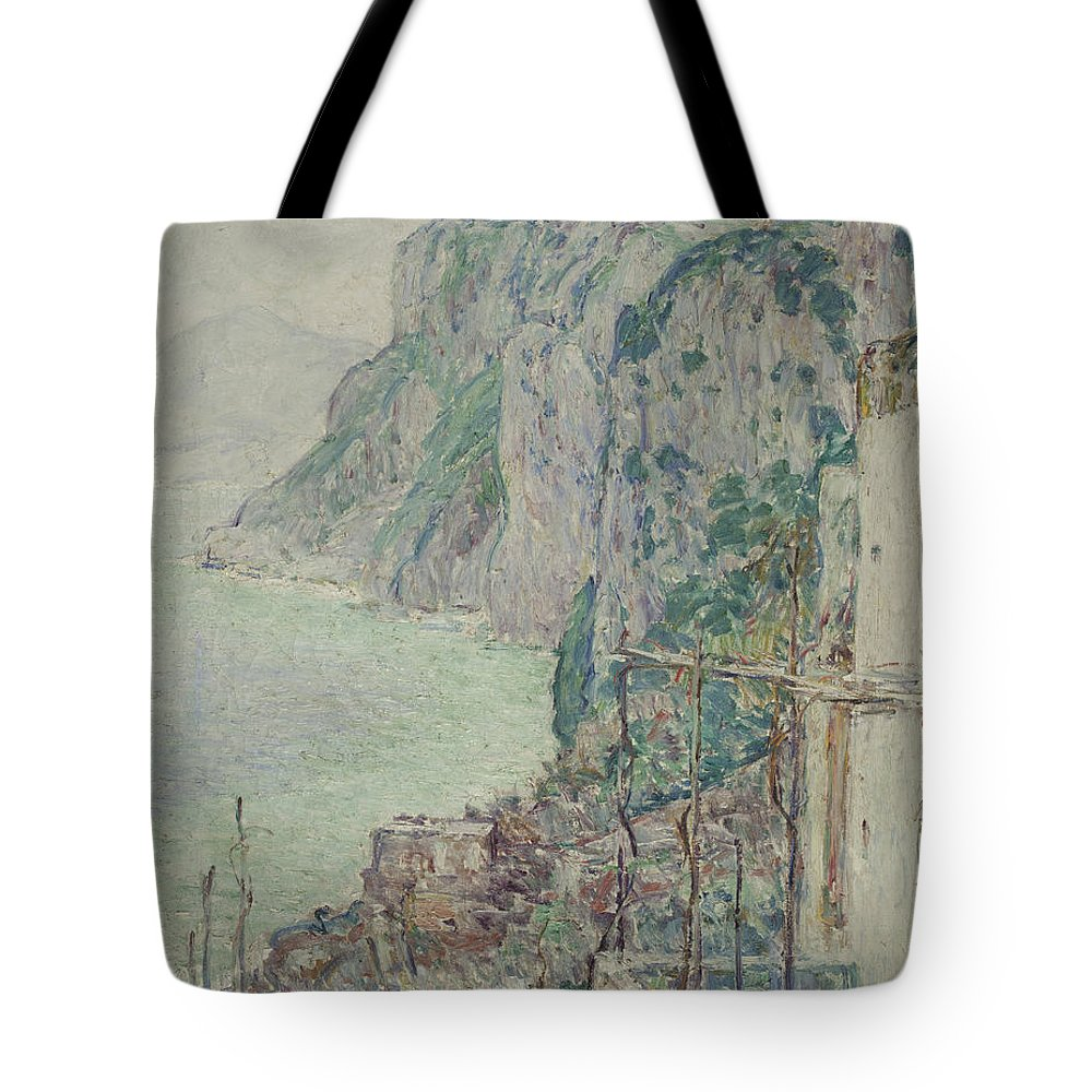 Capri Tote Bag featuring the painting Capri, 1897 by Childe Hassam