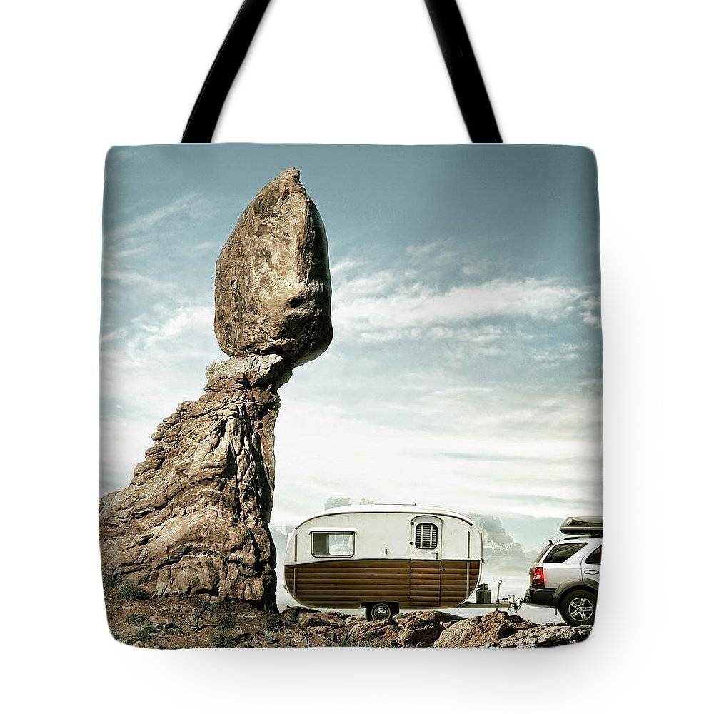 Camping Tote Bag featuring the photograph Careless Camping by Colin Anderson