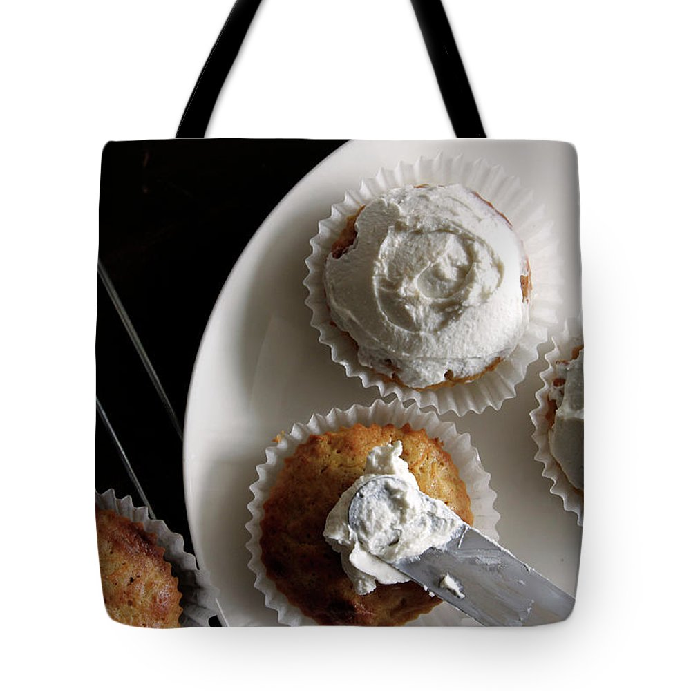 Unhealthy Eating Tote Bag featuring the photograph Carrot Cakes by Quilie