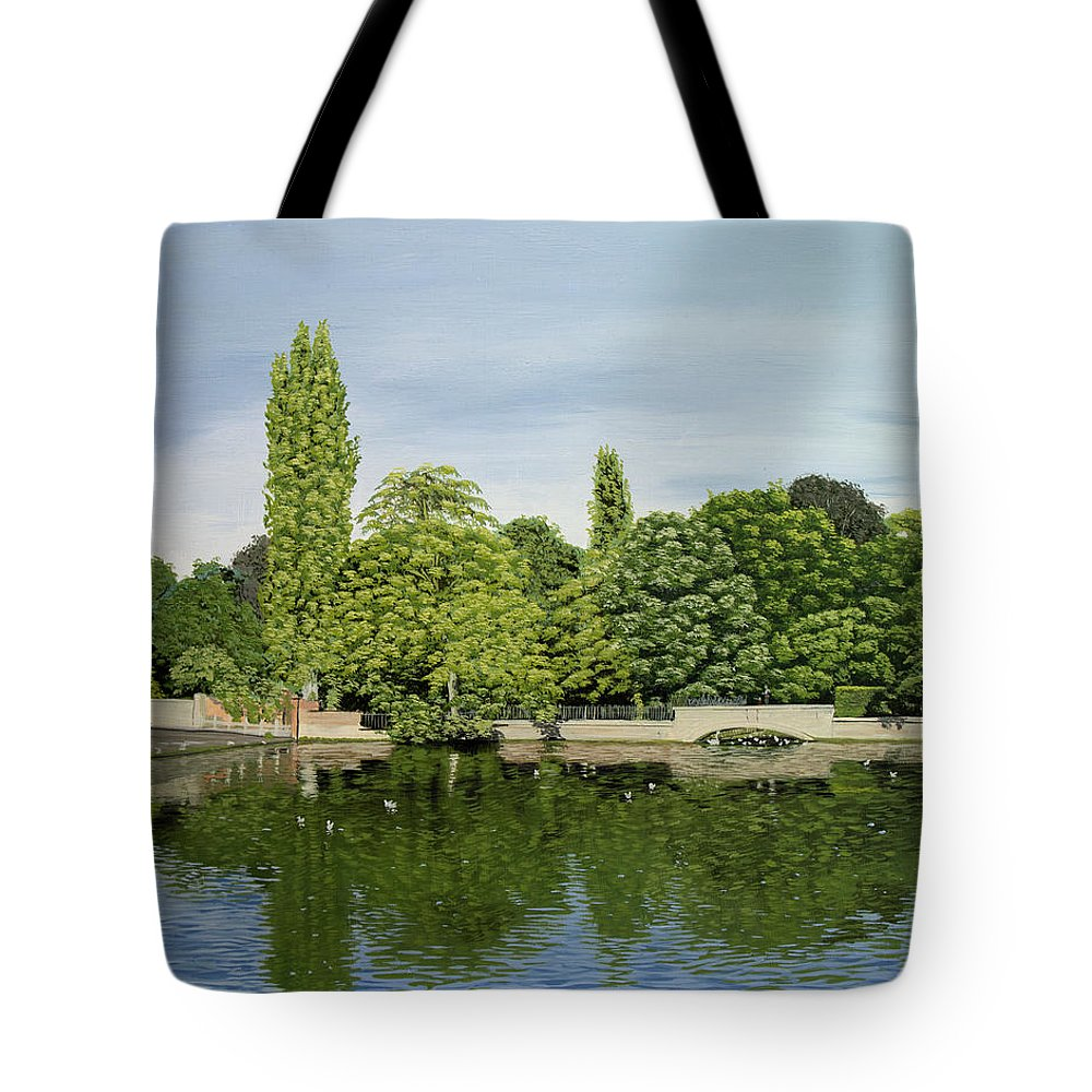 Carshalton Ponds Tote Bag featuring the painting Carshalton Ponds by Raymond Ore
