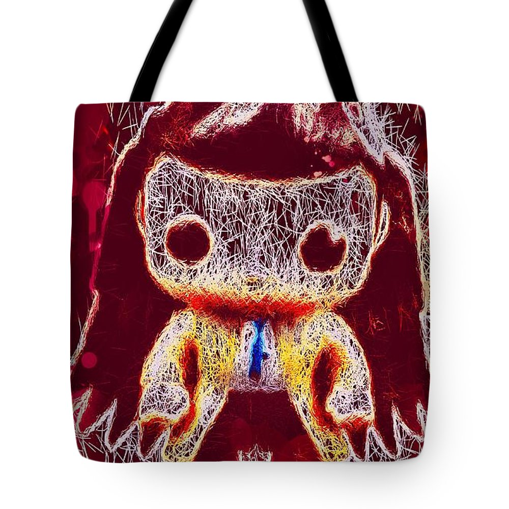 Castiel Mixed Media Tote Bags