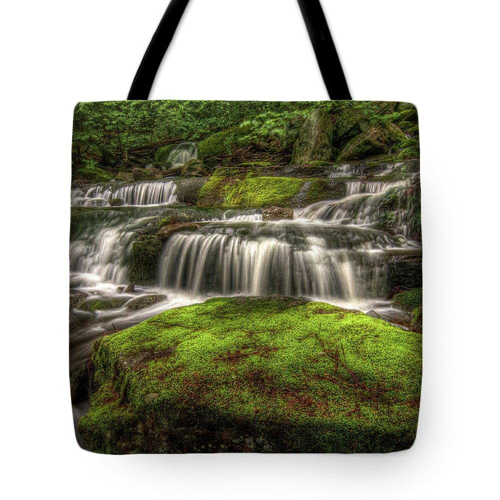 Scenics Tote Bag featuring the photograph Catskill Waterfall by Kevin A Scherer