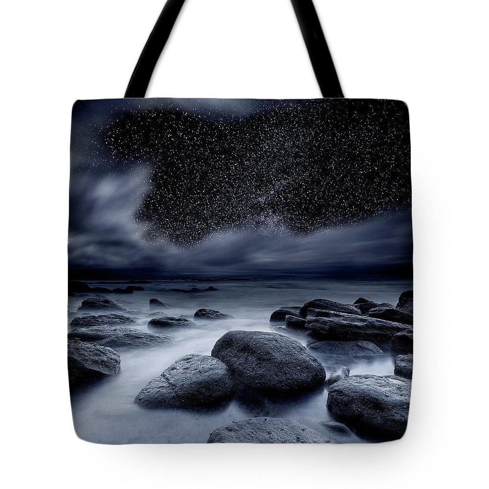 Night Tote Bag featuring the photograph Celestial Night by Jorge Maia