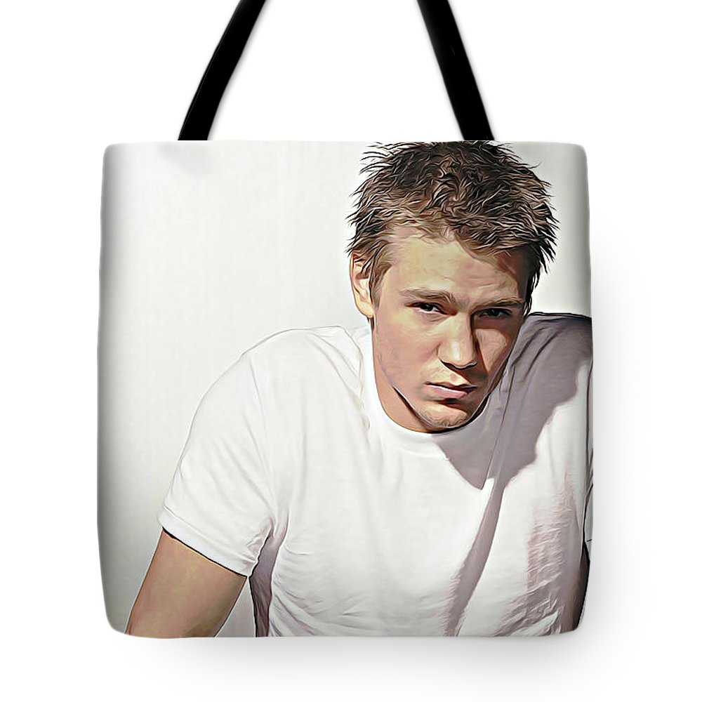 Chad Michael Murray Tote Bag featuring the digital art Chad Michael Murray by Queso Espinosa