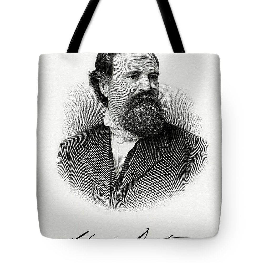 Republican Politician Tote Bag featuring the painting Charles Foster by The Bureau of Engraving and Printing