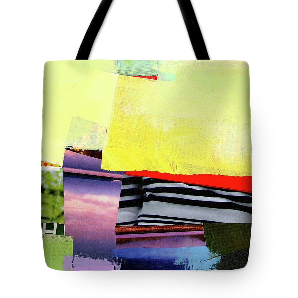 Abstract Art Tote Bag featuring the painting Checkered Past by Jane Davies