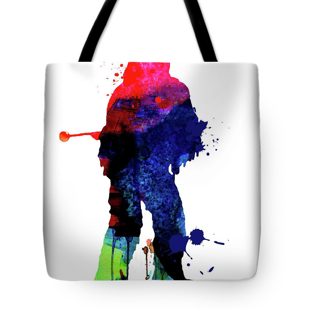 Chewbacca Tote Bag featuring the mixed media Chewbacca Cartoon Watercolor by Naxart Studio