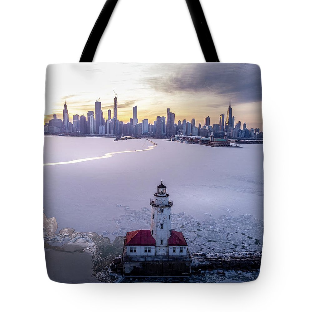 Chicago Tote Bag featuring the photograph Chicago Harbor Lighthouse by Bobby King