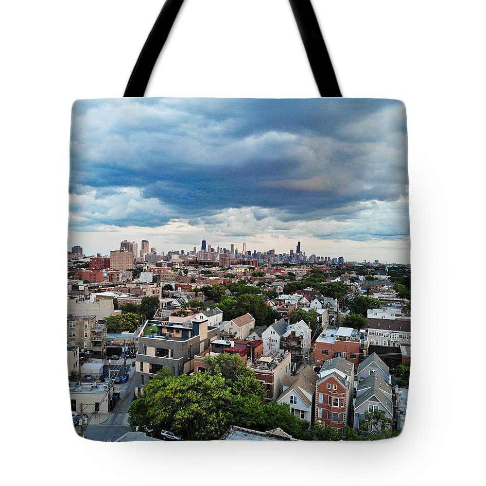 Chicago Tote Bag featuring the photograph Chicago Skyline by Bobby King