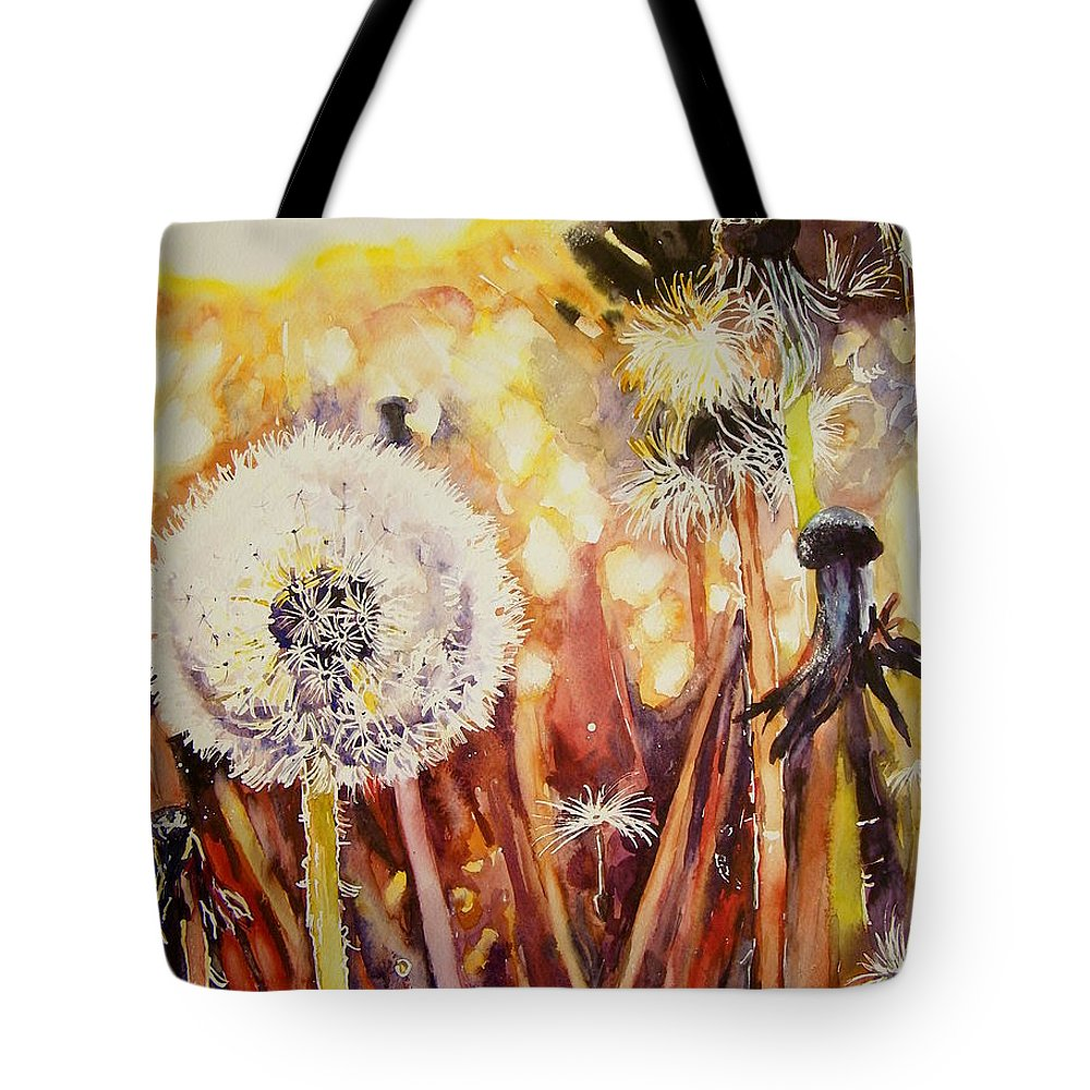 Childhood Tote Bag featuring the painting Childhood's Earliest Thoughts by Suzann Sines