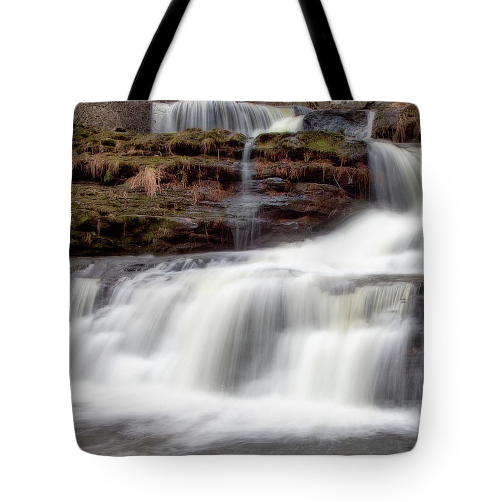 Outdoors Tote Bag featuring the photograph Childs Park Waterfall by Michael Orso