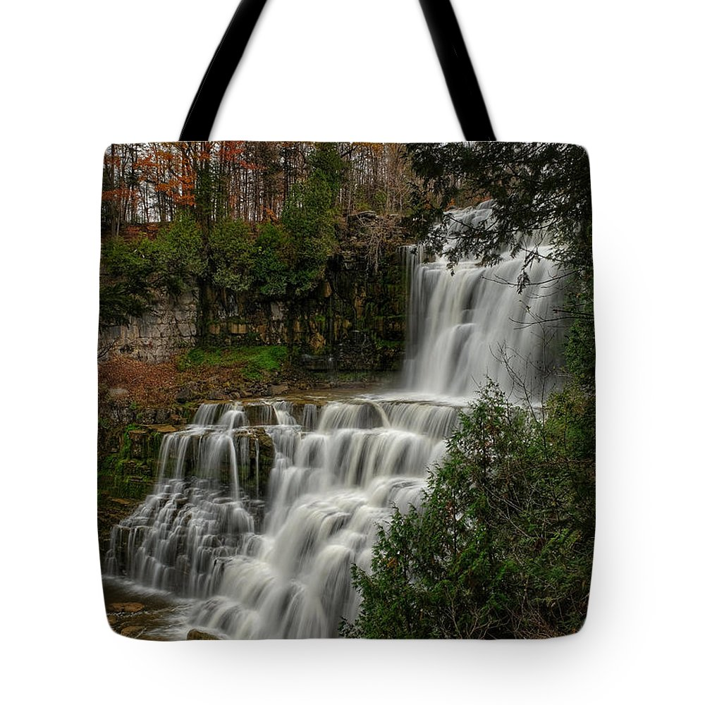 Photography Tote Bag featuring the photograph Chitennango Falls by Jeffrey PERKINS