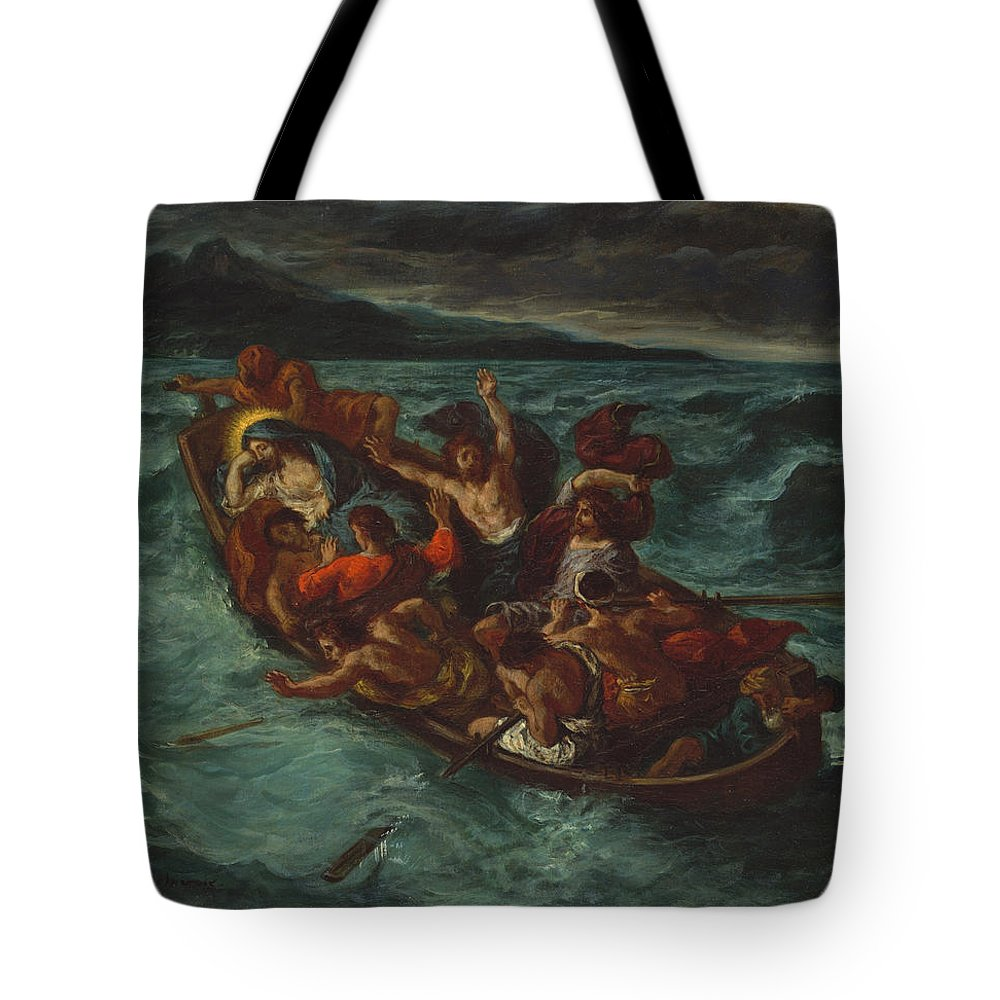 Eugène Delacroix Tote Bag featuring the painting Christ Asleep During The Tempest by Eug ne Delacroix