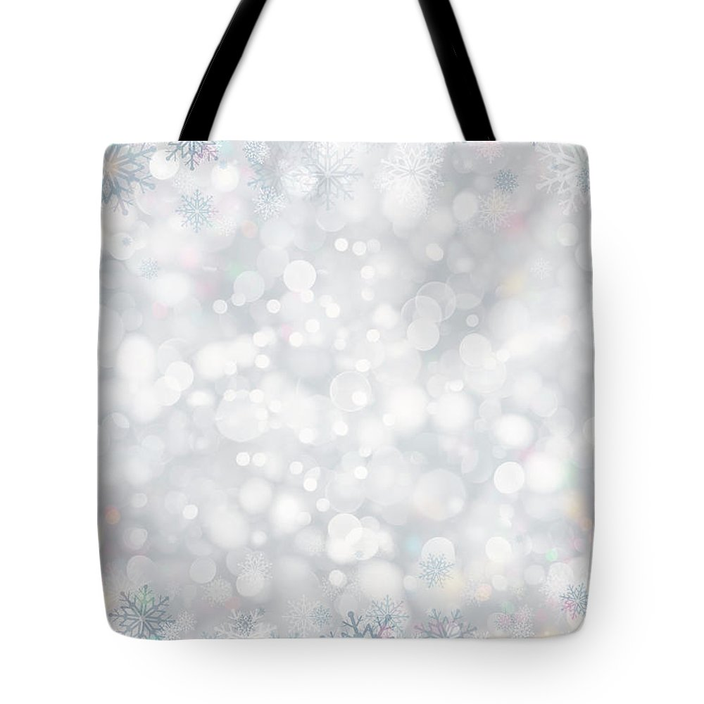 Holiday Tote Bag featuring the photograph Christmas Background by Sbayram