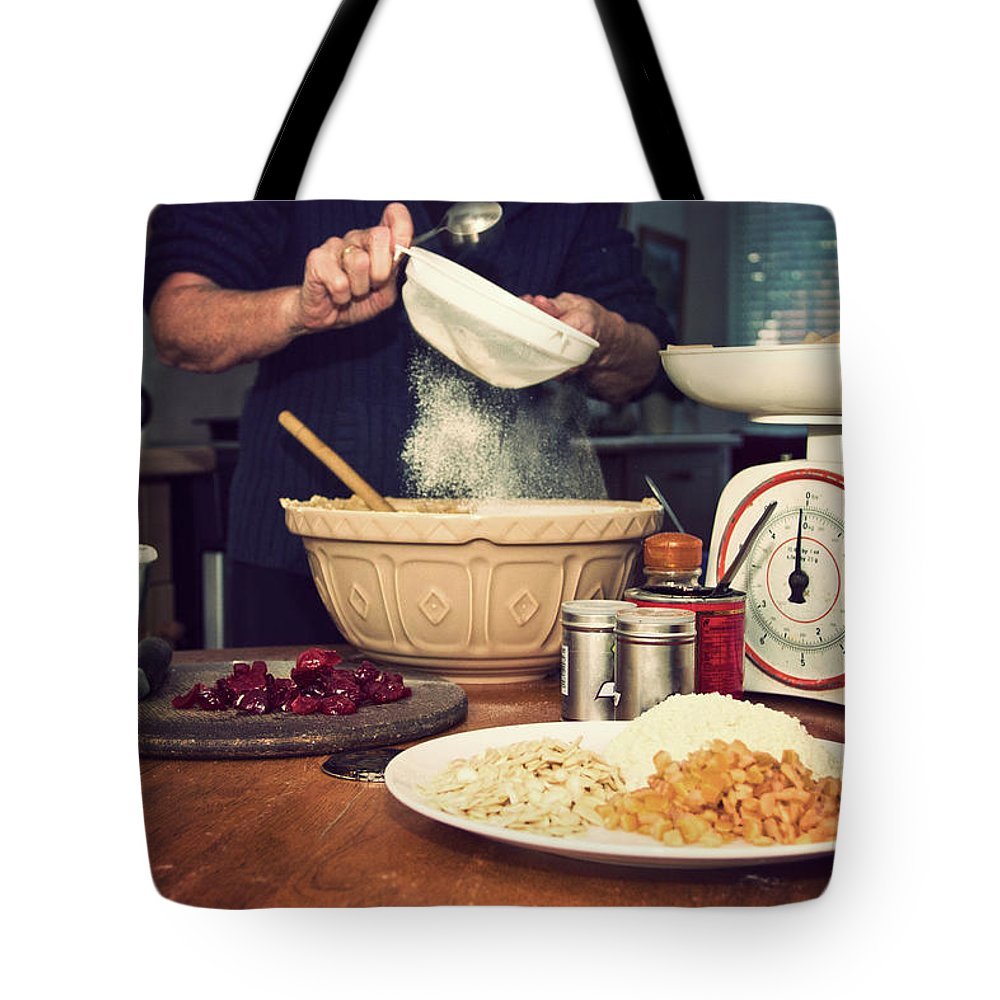 Dublin Tote Bag featuring the photograph Christmas Cake Making by Image By Catherine Macbride