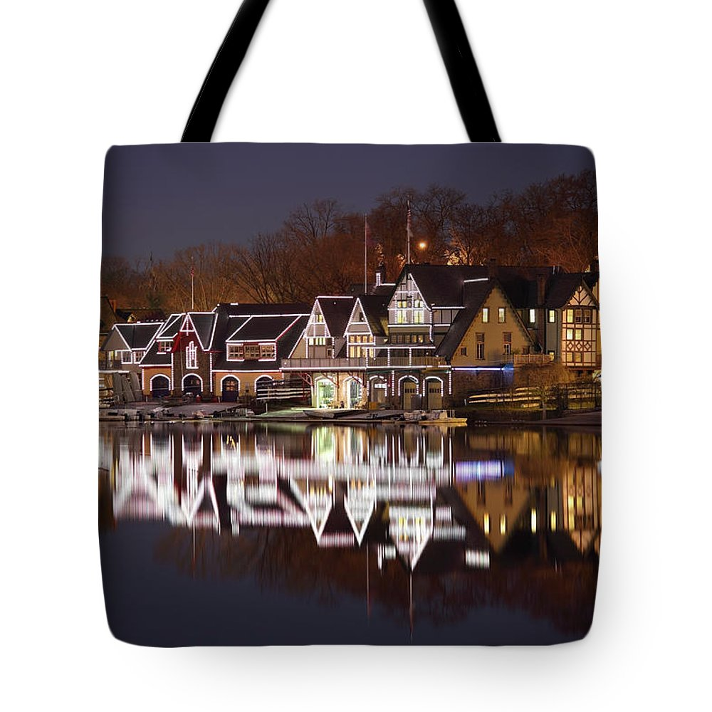 Holiday Tote Bag featuring the photograph Christmas Lights by Denistangneyjr