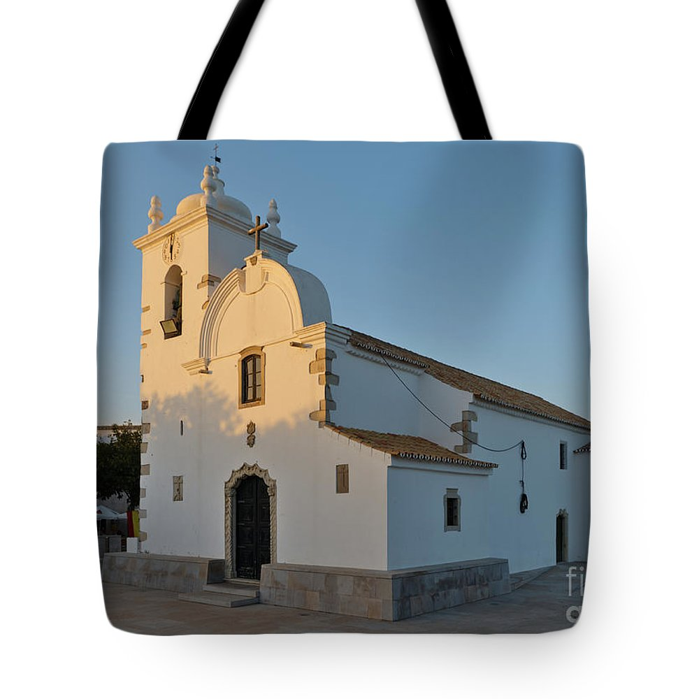 Querenca Tote Bag featuring the photograph Church Of Querenca In Loule. Portugal by Angelo DeVal