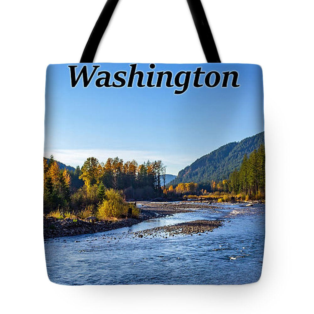 Cispus River Tote Bag featuring the photograph Cispus River In The Gifford Pinchot National Forest, Washington State by G Matthew Laughton