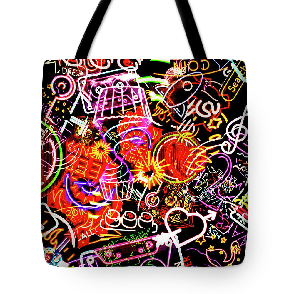 Neon Tote Bag featuring the photograph City By Design by Jorgo Photography - Wall Art Gallery