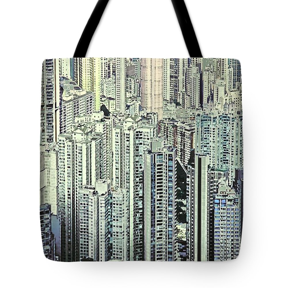 City Tote Bag featuring the photograph City by Gillis Cone