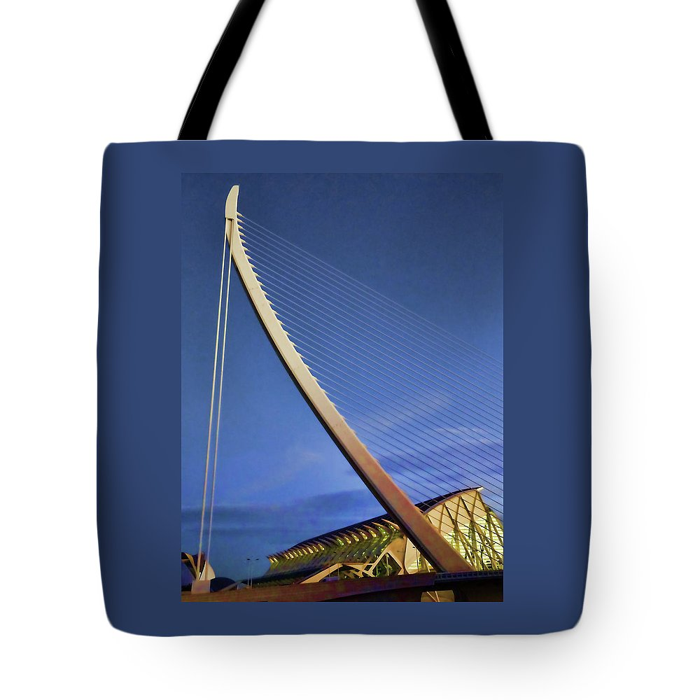 Architecture Tote Bag featuring the photograph City Of Arts And Sciences # 5 - Valencia by Allen Beatty
