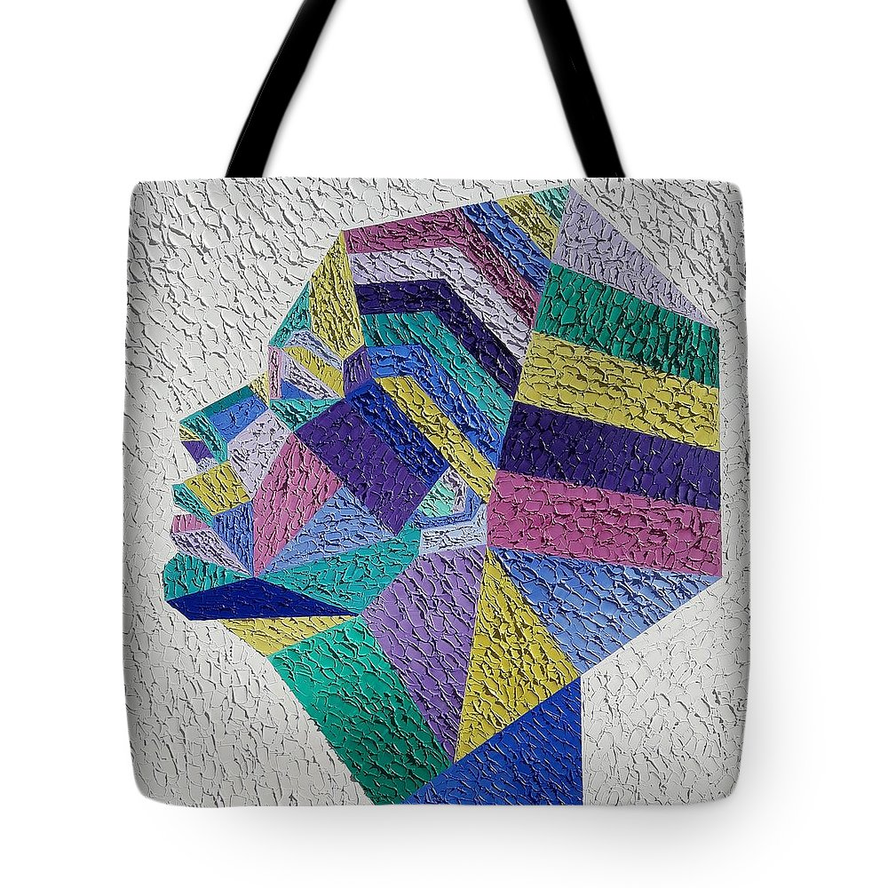 Geometric Painting Tote Bag featuring the painting Cleopatra by Afafe Slaoui