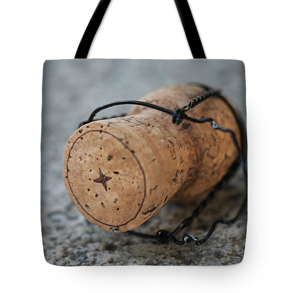Alcohol Tote Bag featuring the photograph Close-up Of Cork by Lindeblad, Matilda