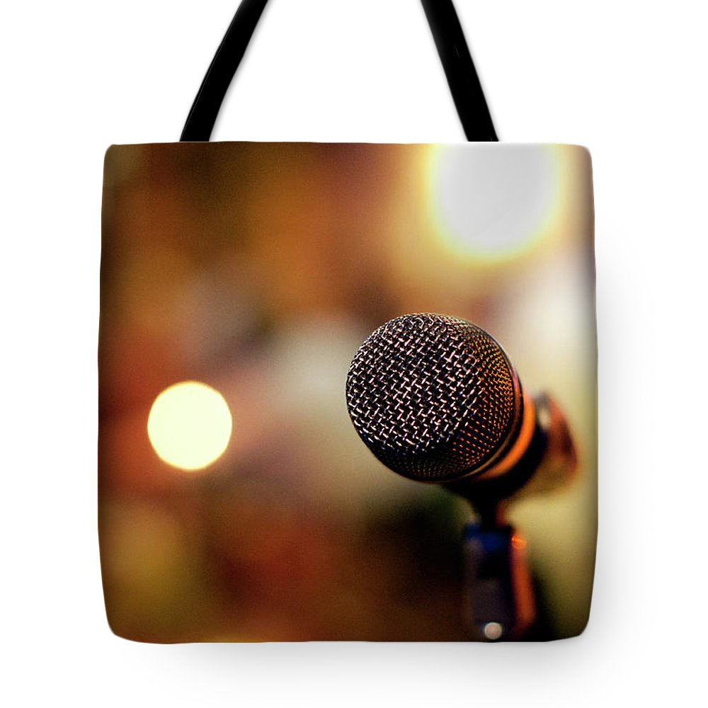 Communication Tote Bag featuring the photograph Closeup Of Mick by Lina Aidukaite