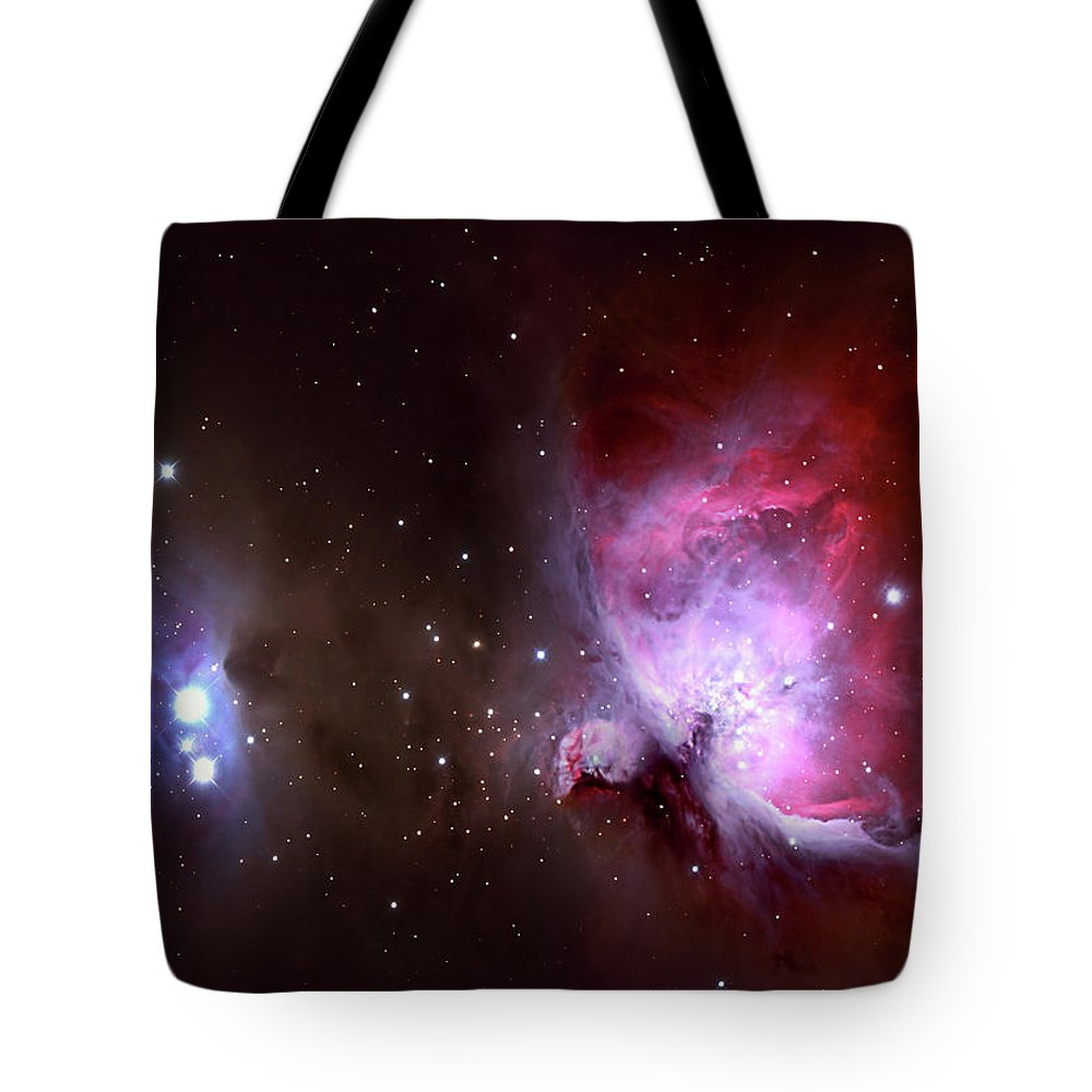 Natural Gas Tote Bag featuring the photograph Closeup Of The Great Orion Nebula by Manfred konrad